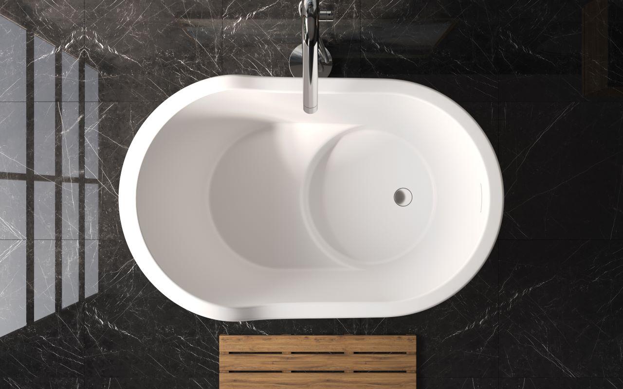 Aquatica True Ofuro Nano White Freestanding Solid Surface Bathtub03