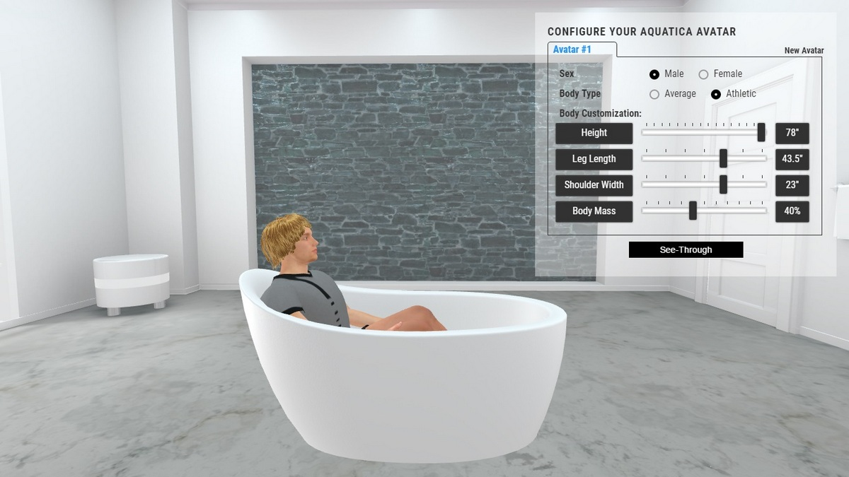 Emma 2 Bathtub 3D Body Position