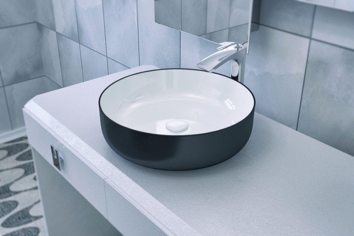 Metamorfosi Black Wht Round Ceramic Vessel Sink 01 (web)