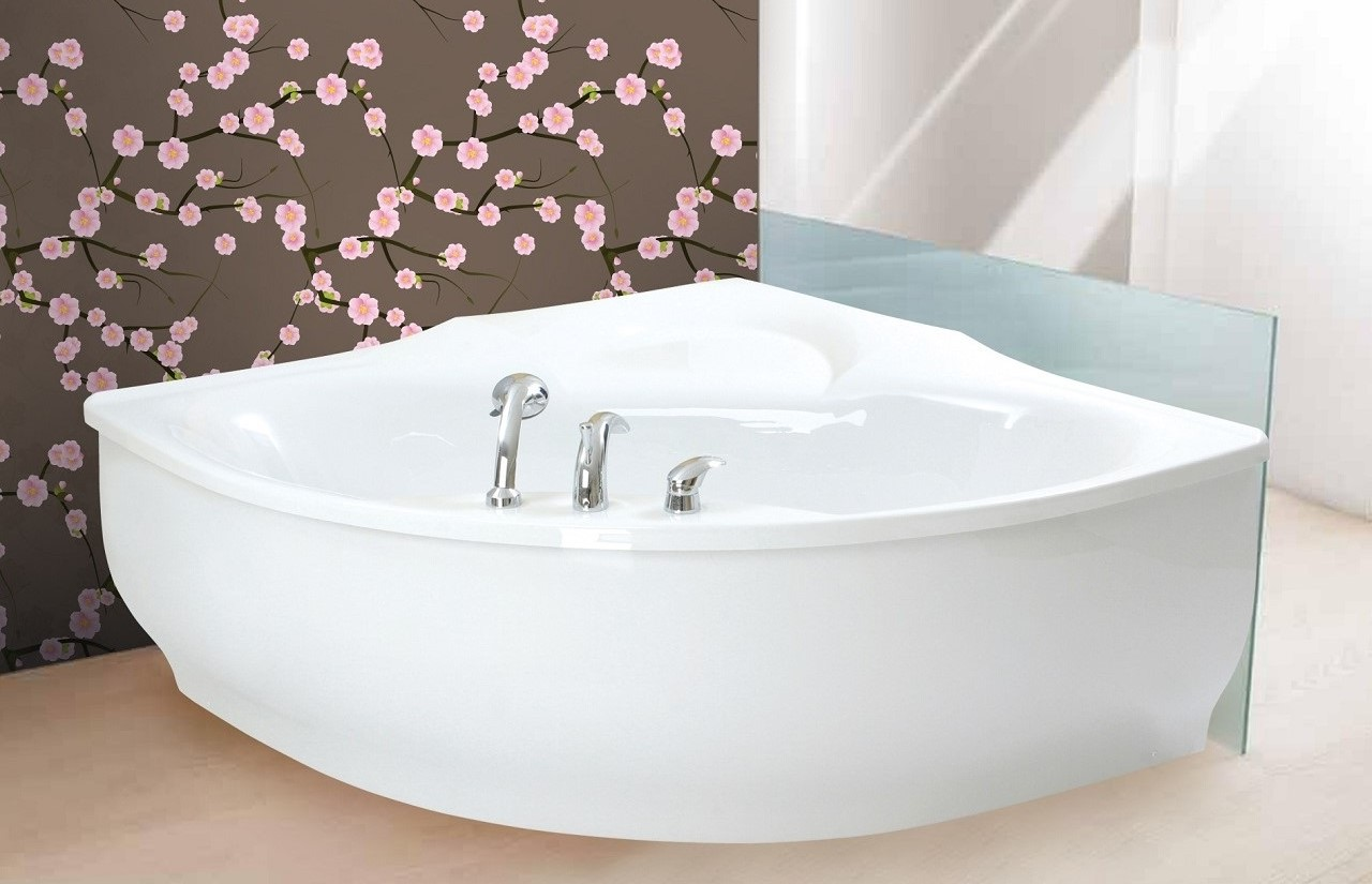 PureScape 314 Corner Acrylic Bathtub by Aquatica web 1