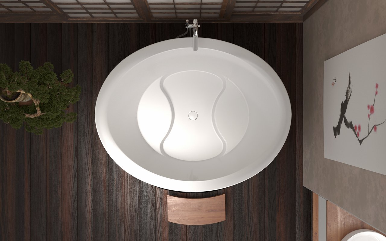 True Ofuro Duo Freestanding Stone Japanese Soaking Bathtub 04 (web)