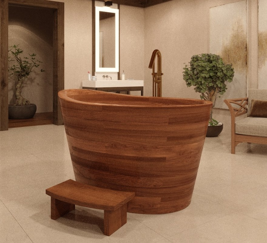 True Ofuro Wooden Freestanding Soaking Bathtub 01 (web)