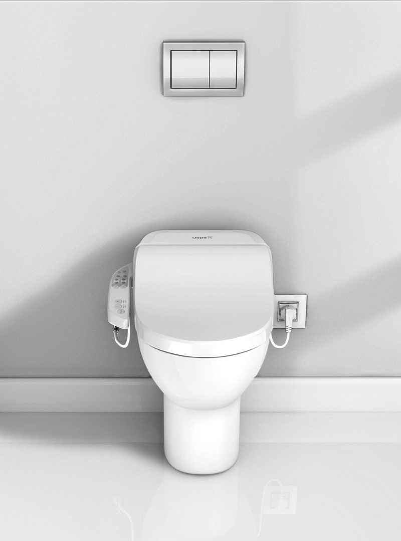 USPA 7000 D Hygienic Electronic Bidet Seat with Side Control Panel and SFERA F Toilet (1) (web)