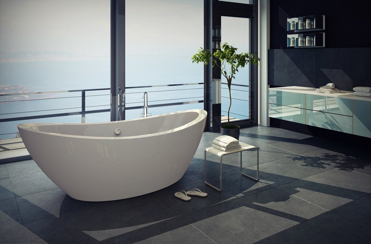 PURESCAPE 170 Oversized Freestanding Slipper Bathtub web (1)