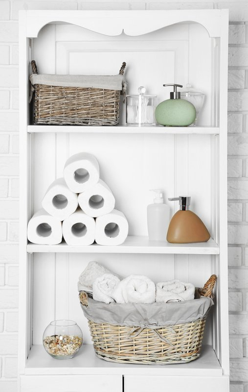 ingenious bath towel storage in your bathroom. Black Bedroom Furniture Sets. Home Design Ideas